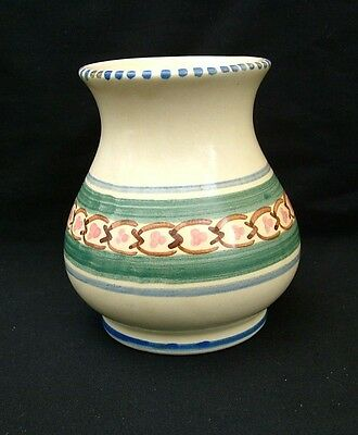 Small hand painted Hiniton Pottery baluster vase