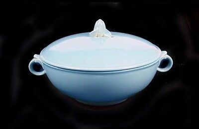 "Taylor, Smith and Taylor-LuRay Blue 8"" - 2 Handled Covered Casserole Signed"