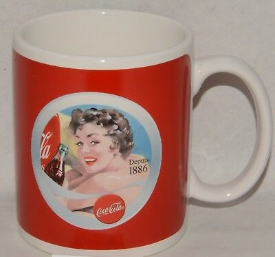 COCA-COLA Mug céramique pin-up brune Quick neuf