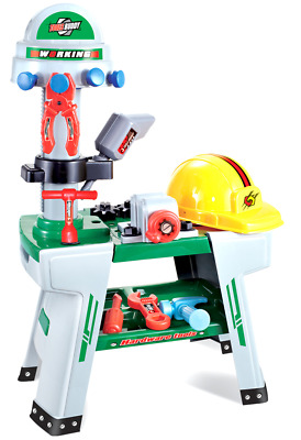 Childrens Toy Work Bench Workbench 45+ Play Tools & Diy Builders Hard Hat 00881