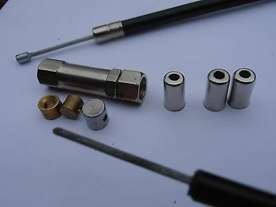 TRIUMPH TR7 Throttle cable kit, NYLON lined,