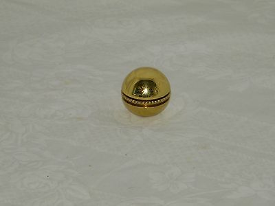 Vintage Cast Brass Lamp Finial  Ball Small 18833