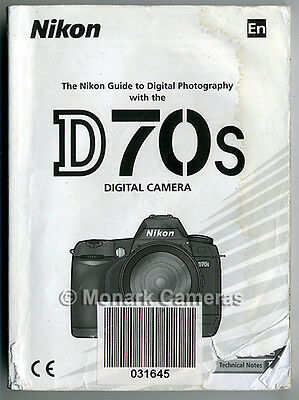 Nikon D70s Camera Instruction Manual. More Original Books & User Guides Listed