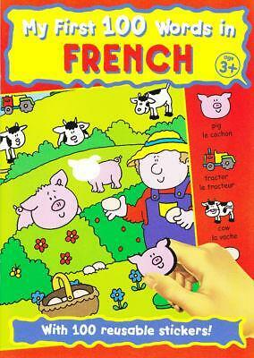 My First 100 Words in French language early learning sticker book from 3 years!