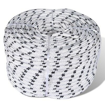 50m Long 10mm Thick Polyester Poly Braided Rope Coil Boat Dock Line Cord