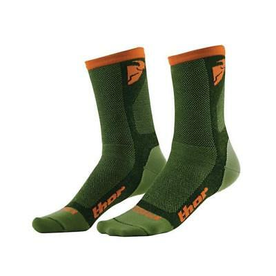 THOR MX / MTB SOCKEN 2016 MX-SOCKS COOL DUAL LOW - grün-orange