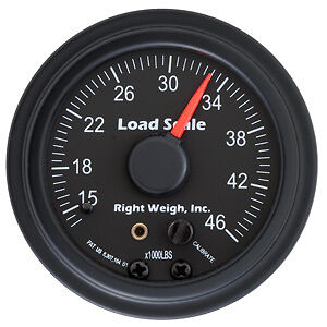 Right Weigh Load Scale, 510-46-B, On Board Weigh Scale Gauge Only