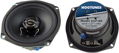 """New Hogtunes 5.25"""" Front Speakers For High Amp Stereo 06-13 Harley Touring Flhx"""