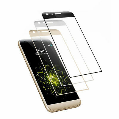 For LG G5 New 9H Real Full Curved 3D Edge Tempered Glass Screen Protector Film