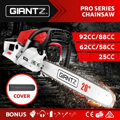Giantz 25/58/62/66/88/92CC Petrol Chainsaw Commercial Pruning Chain Saw E-Start