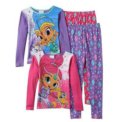 Shimmer And Shine Ls Pajamas Size 4 6 8 10 12 New!