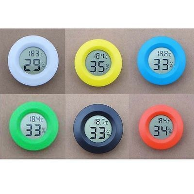 Mini LCD Hygrometer Humidity Thermometer Round Temperature Meter Tester Indoor