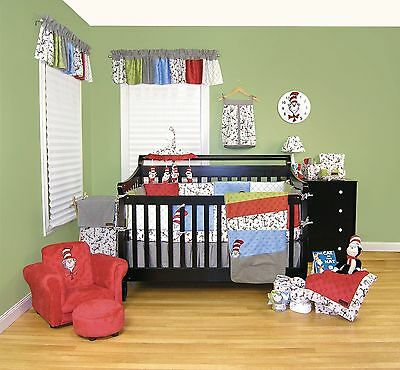 Trend Lab Dr Seuss Cat In The Hat Baby Crib Bedding CHOOSE From 3 4 5 6 7 PC Set