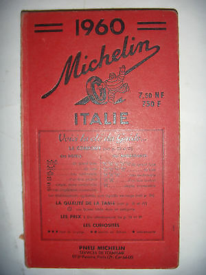 Guide Rouge Michelin : Italie, 1960, BE