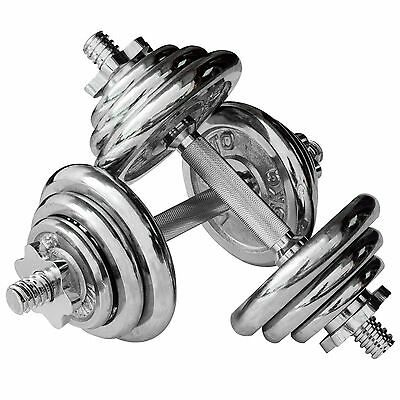 Viavito 20kg Chrome Dumbbell Set - Fitness Gym Training Free Weights