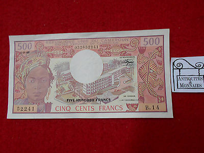 Cameroun Billet De 500 Francs 1.01.1983 B.14 - Old Bill