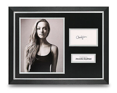 Amanda Seyfried Signed Photo Framed 16x12 Les Miserables Autograph Display COA