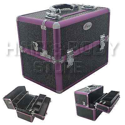BEAUTY CASE STRASS BLACK Case nail ART reconstruction nail aesthetic makeup