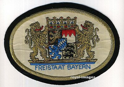 FREISTAAT BAYERN grosser Aufnäher Patina German Coat of Arms BAVARIA large crest