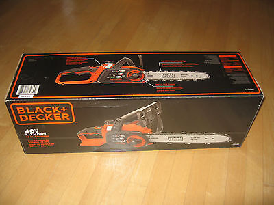 """Brand New Black & Decker 40V MAX Cordless 12"""" Battery Powered Chainsaw BARE TOOL"""