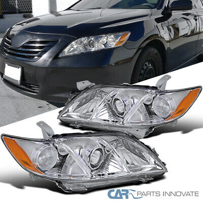 2007-2009 Toyota Camry CE LE SE JDM Chrome Clear Projector Headlights Left+Right