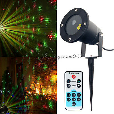 Moving R&G Laser Lights Ourdoor Landscape Projector Lamp For Xmas Garden+Control
