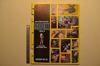 #J86 Vintage  SIOUX Air & Electric Tools Catalog No. 67 87 pg Grinder Drill