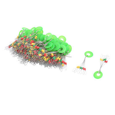 100pcs 6 in 1 Design Colorful Fishing Bobber Stopper Float Fish Angling Tackle