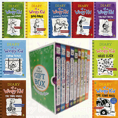 Jeff Kinney Collection Diary of a Wimpy Kid 9 Books Gift Wrapped Slipcase NEW PB