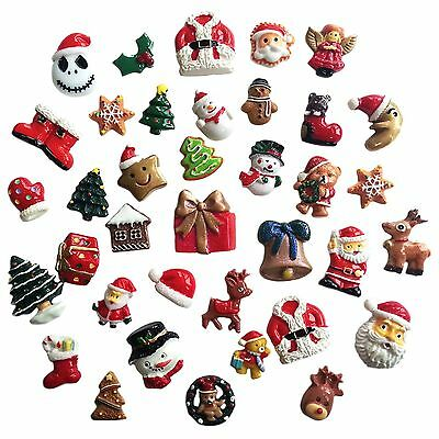 CHRISTMAS  Resin Flatback Cabochon Embellishments for Decoden Craft Card Making