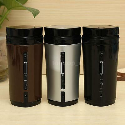 Rechargeable USB Heating Self Stirring Auto Mixing Tea Coffee Cup Mug Warmer Lid