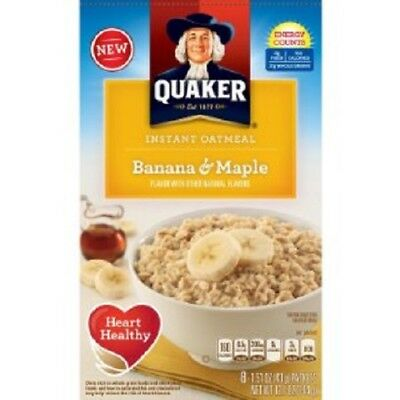 Quaker Banana & Maple Instant Oatmeal Hot Cereal