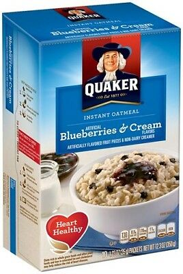 Quaker Blueberries & Cream Instant Oatmeal Hot Cereal