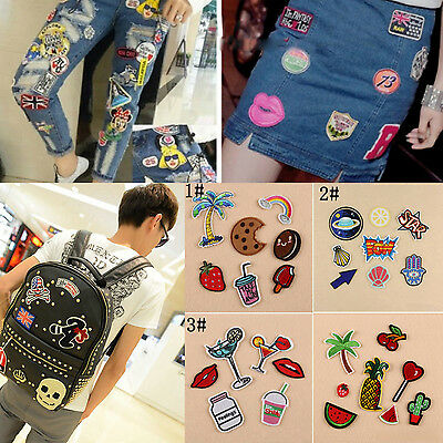 DIY Embroidery Sew Iron On Patch Badge Bag Clothes Fabric Applique Craft