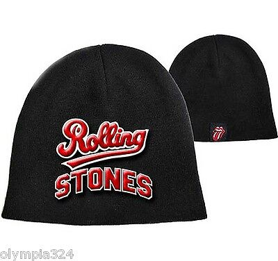 ROLLING STONES, The BEANIE HAT/CAP Embroidered Big Logo Authentic Licensed NEW
