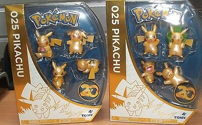 Pokemon 20th Anniversary Limited Edition Pikachu 4 Pack Assortment