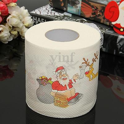 1 Roll Santa Claus Deer Christmas Toilet Paper Tissue Living Room Decoration