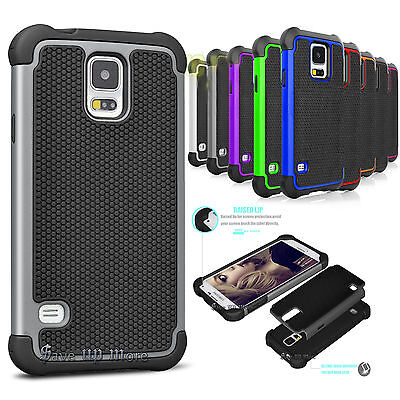 Armor Shockproof Rubber Protective Hard Case Cover For Samsung Galaxy S5 i9600