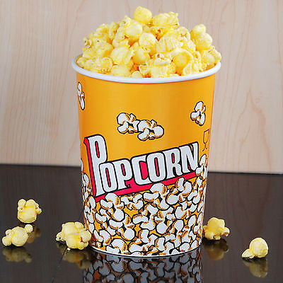 Carnival King 32 oz. Round Paper Popcorn Cup - 50 / Pack