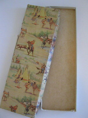 VINTAGE TIE GIFT BOX COWBOYS & INDIANS  1950s