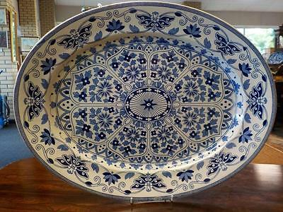 Indian Ornament Patterned Booth Ironstone Meat Plate