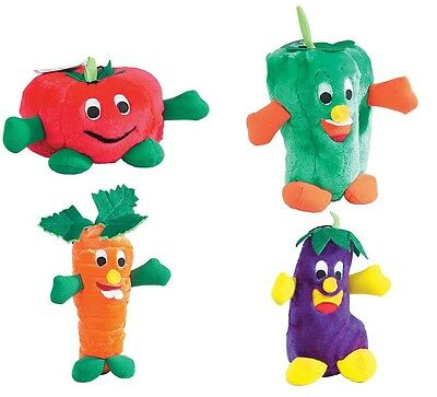 Giggling Veggies Dog Toys Soft Vegetable Themed Plush Funny Giggle Shaker Toy