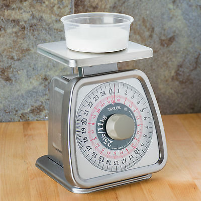Taylor TS25KL 25 lb. Analog Restaurant Foodservice Portion Control Scale