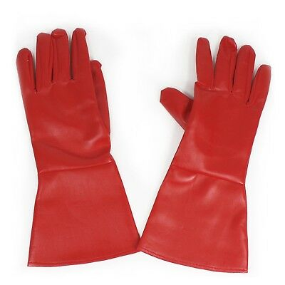 Gloves Superhero Captain America Adult Costume FAUX LEATHER Gauntlets RED