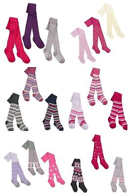 Baby Girls Patterned Tights 6 Styles sizes 0-6m 6-12m 12-18m and 18-24m