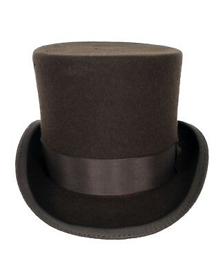 0b5374689839a Adult Victorian Western SteamPUNK Dickens Willy Wonka Cosplay Costume Top  Hat