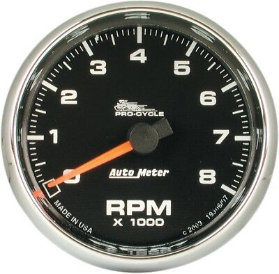 Auto Meter Electronic Tachometer 2 5/8in. Black Face 19306