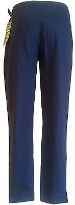 Juniors Tampa Linen/Cotton Cropped Pants (Size 5) Navy A367