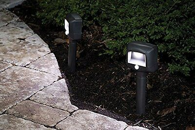 Mr. Beams MB572 Wireless Battery-Powered Motion Sensing LED Path Lights 2-Pack