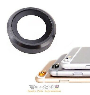 "iPhone 6S 6 4.7"" Black Sapphire Rear Back Glass Camera Lens Ring Replacement"